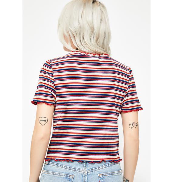 Girl Talk Striped Tee