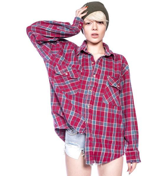 Jac Vanek I Hate Everyone Vintage Flannel Shirt