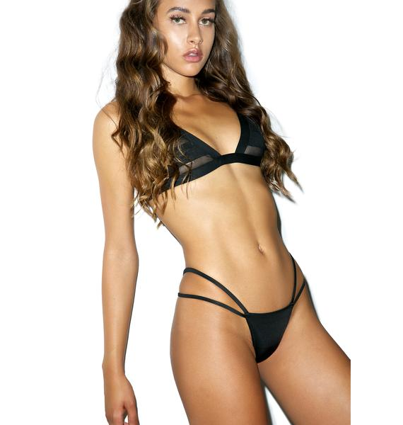 Nada Swim Jet Black Frolic Bottom