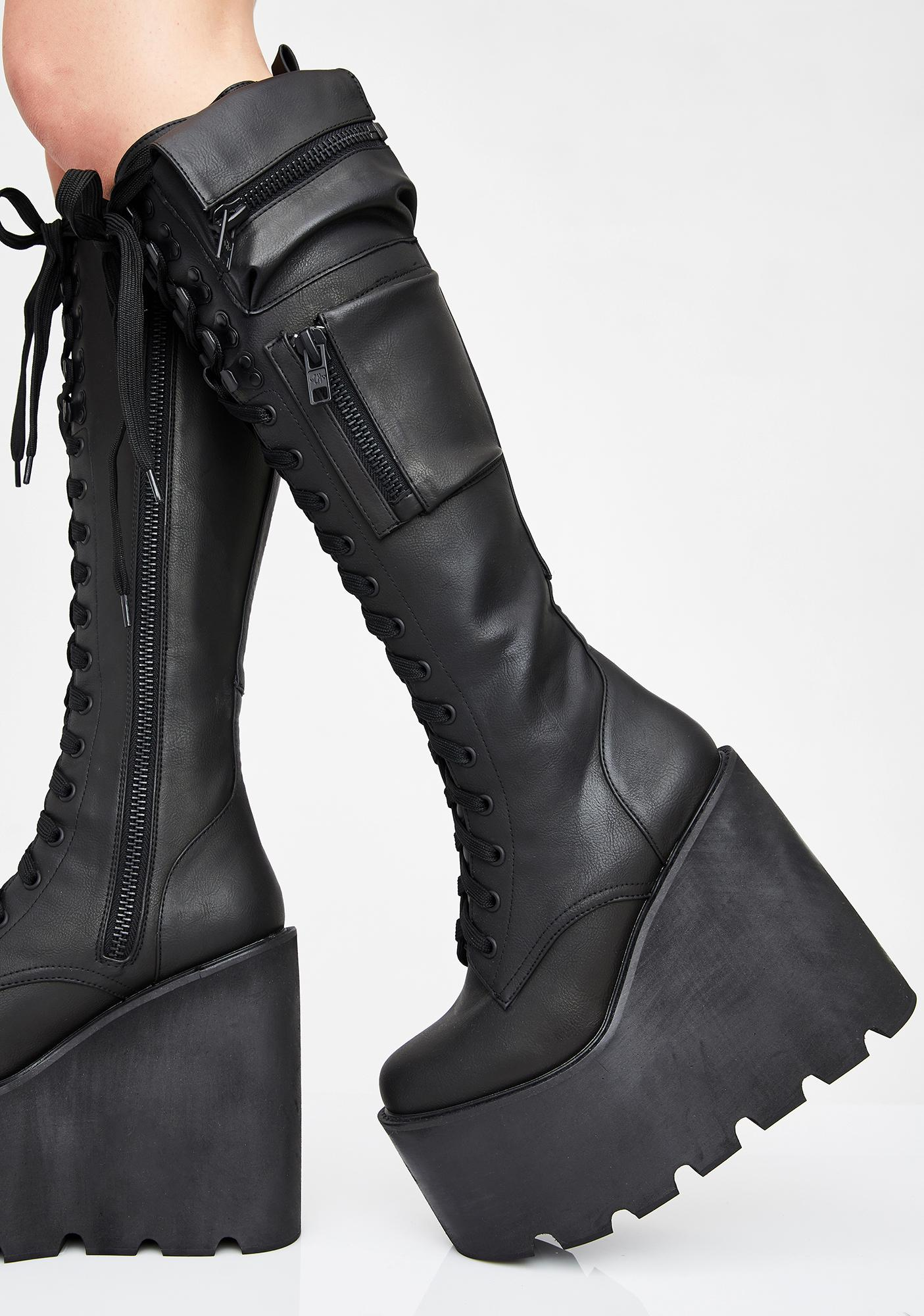 Current Mood Obsidian Platform Boots