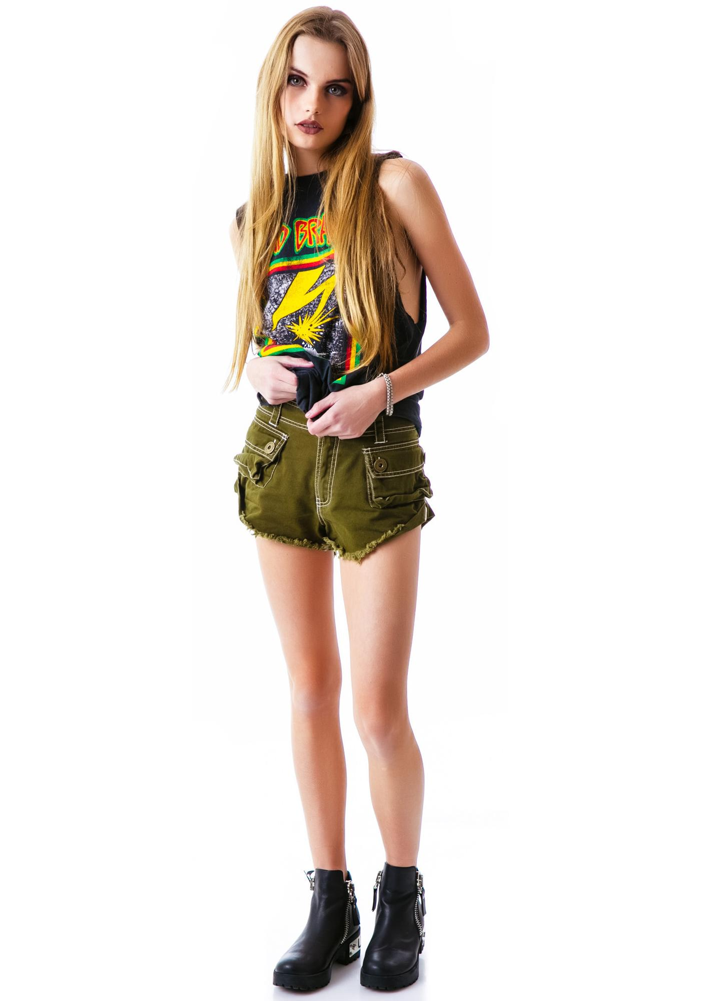 One Teaspoon Defender Military Shorts