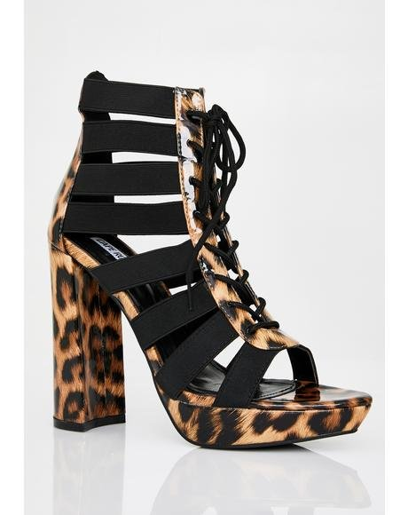 Wild Mood Cut-Out Heels