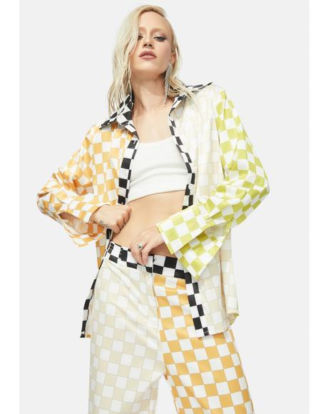 Believe The Hype Checkered Pants Set