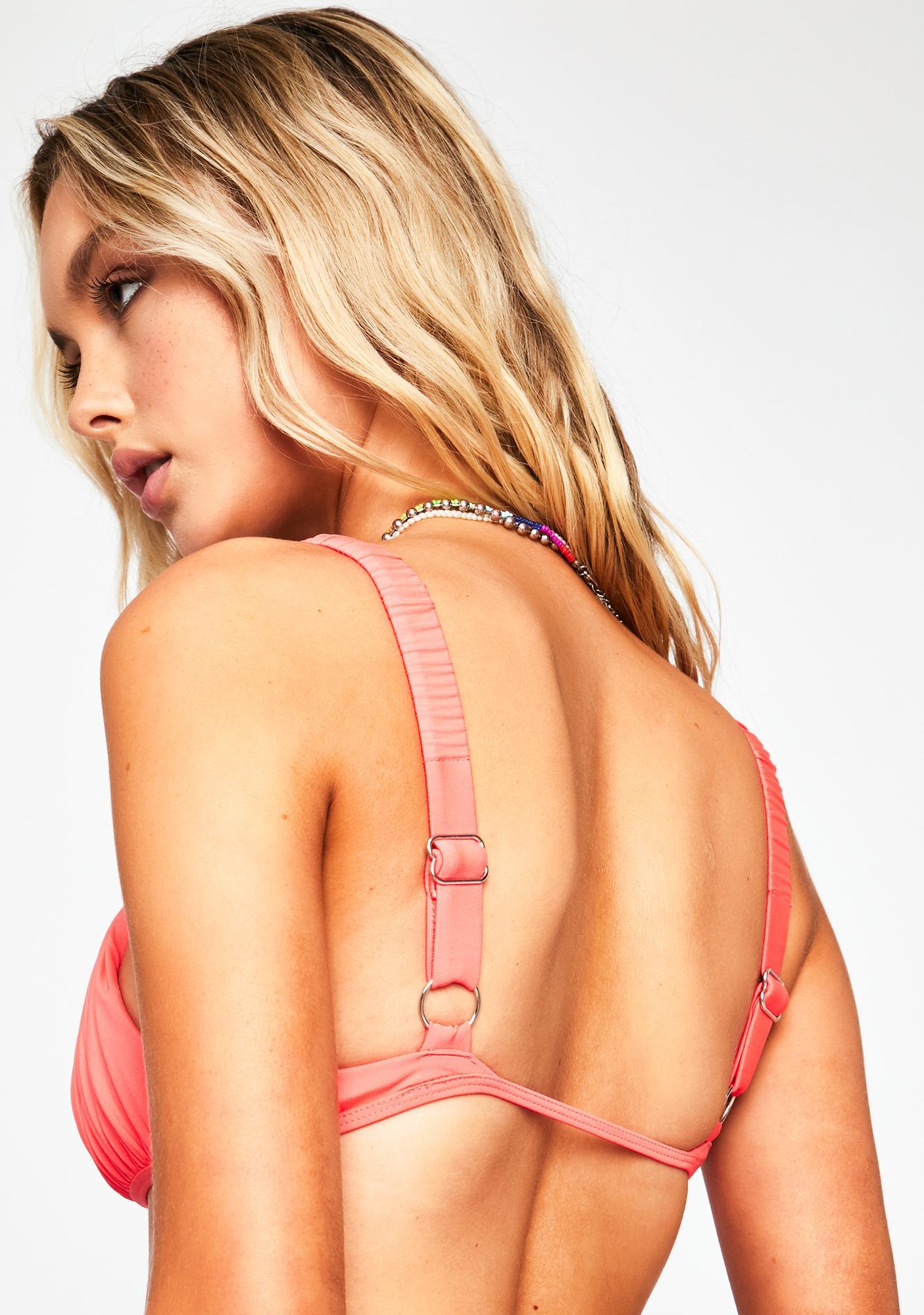 Frankies Bikinis Greta Ruched Bikini Top
