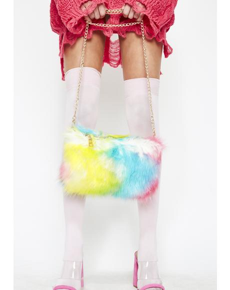 Candy Clout Fuzzy Purse