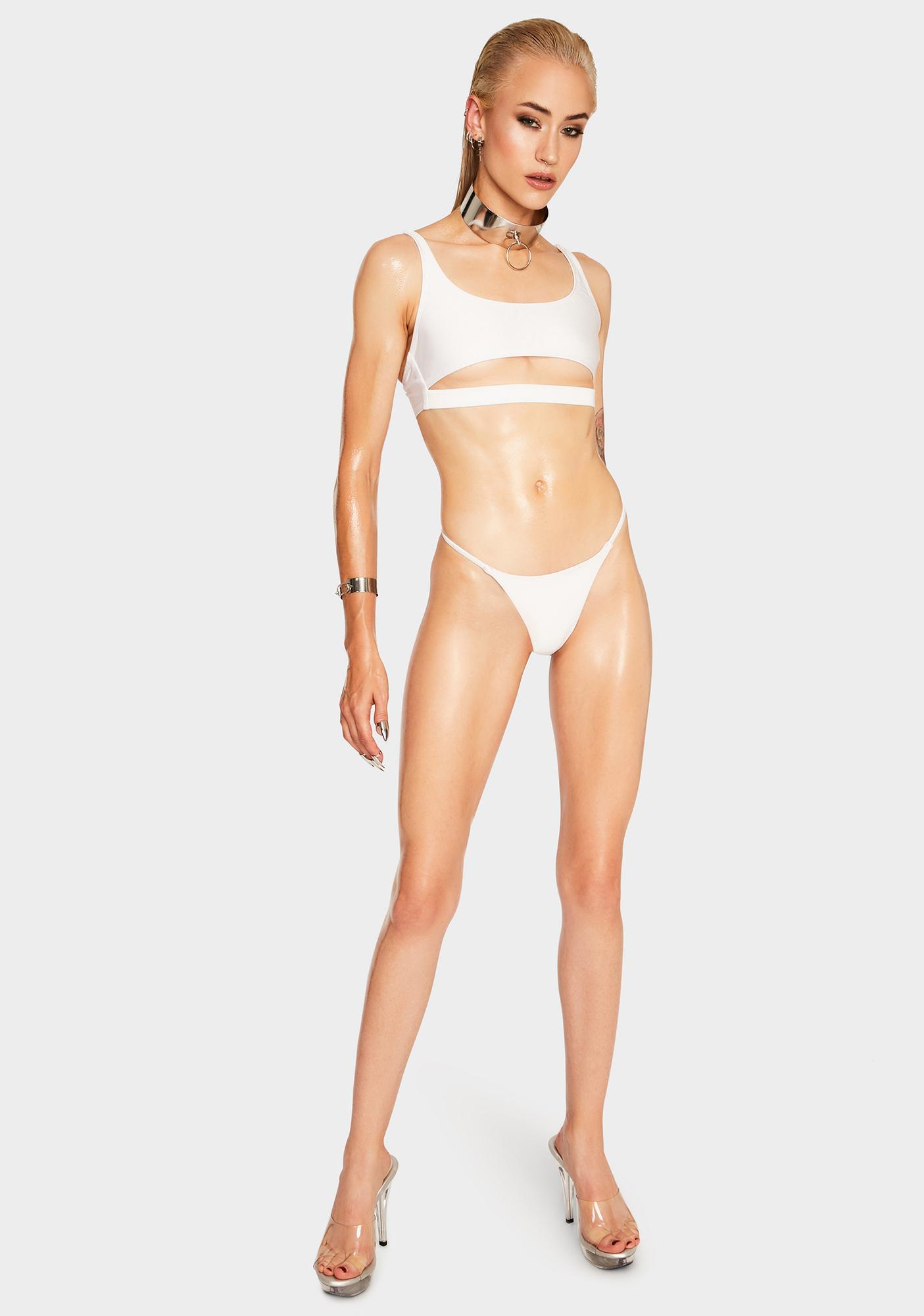 RIS-K White Discover Bikini Top