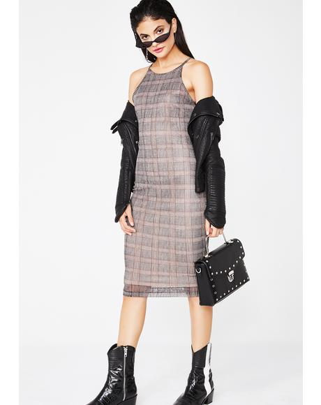 Teach Em A Lesson Midi Dress