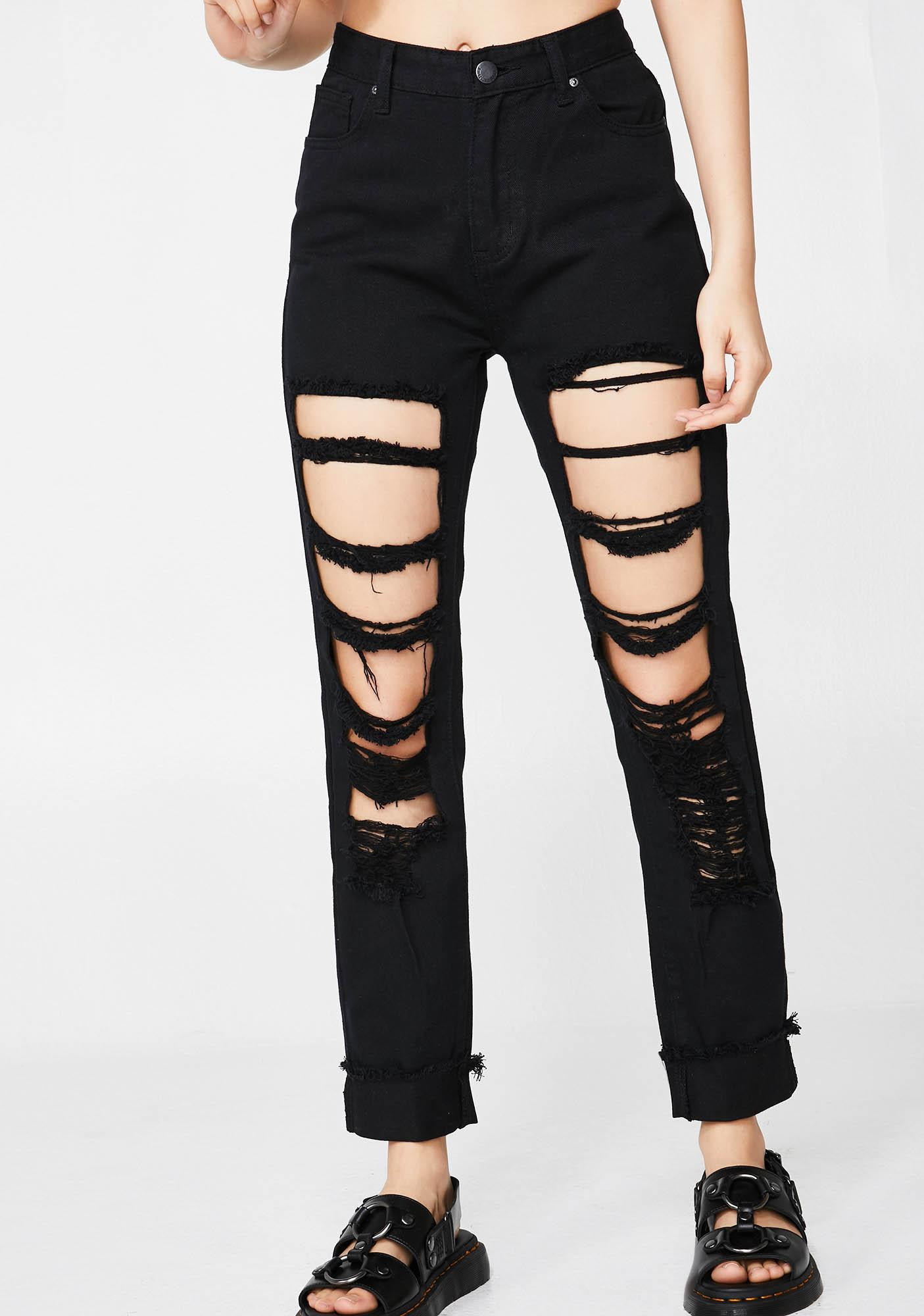 Say It Loud Distressed Jeans