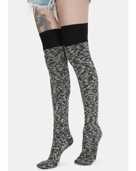 Dancer Nights Knitted Thigh High Socks