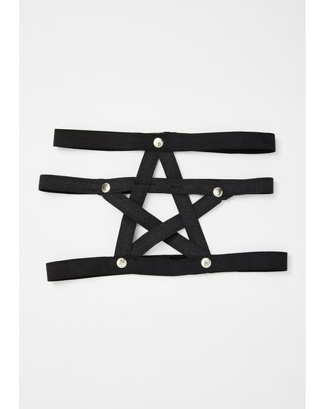 Spellbound Pentagram Leg Harness