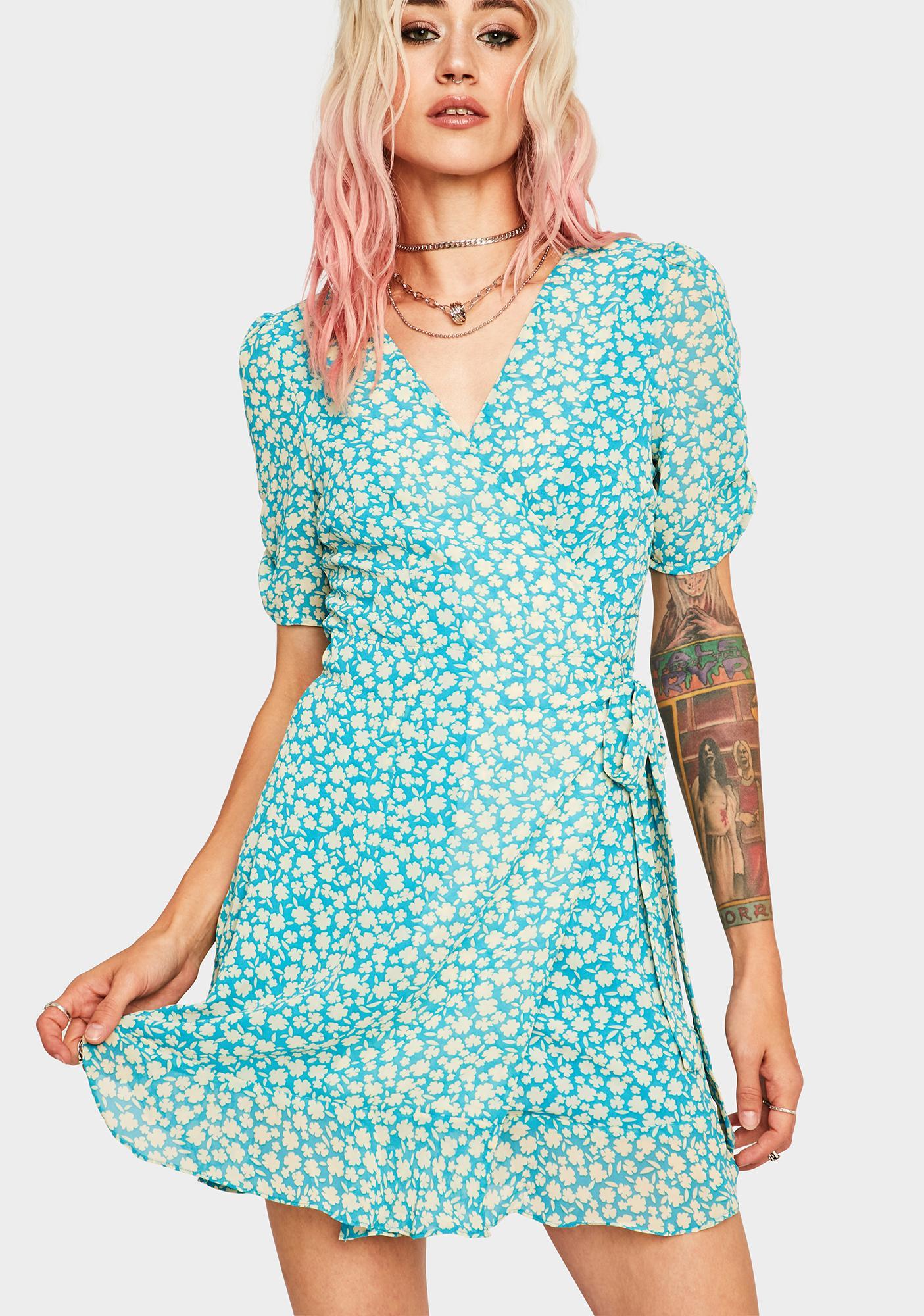 Wandering Wildflower Wrap Dress