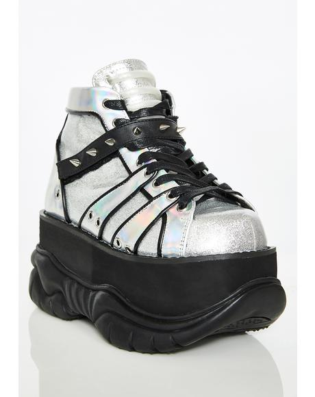 Chrome Machina UV Reactive Platform Sneakers