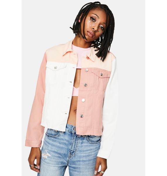 VIGOSS Colorblock Denim Jacket