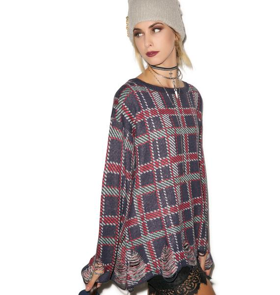Wildfox Couture All Over Plaid Tight Knit
