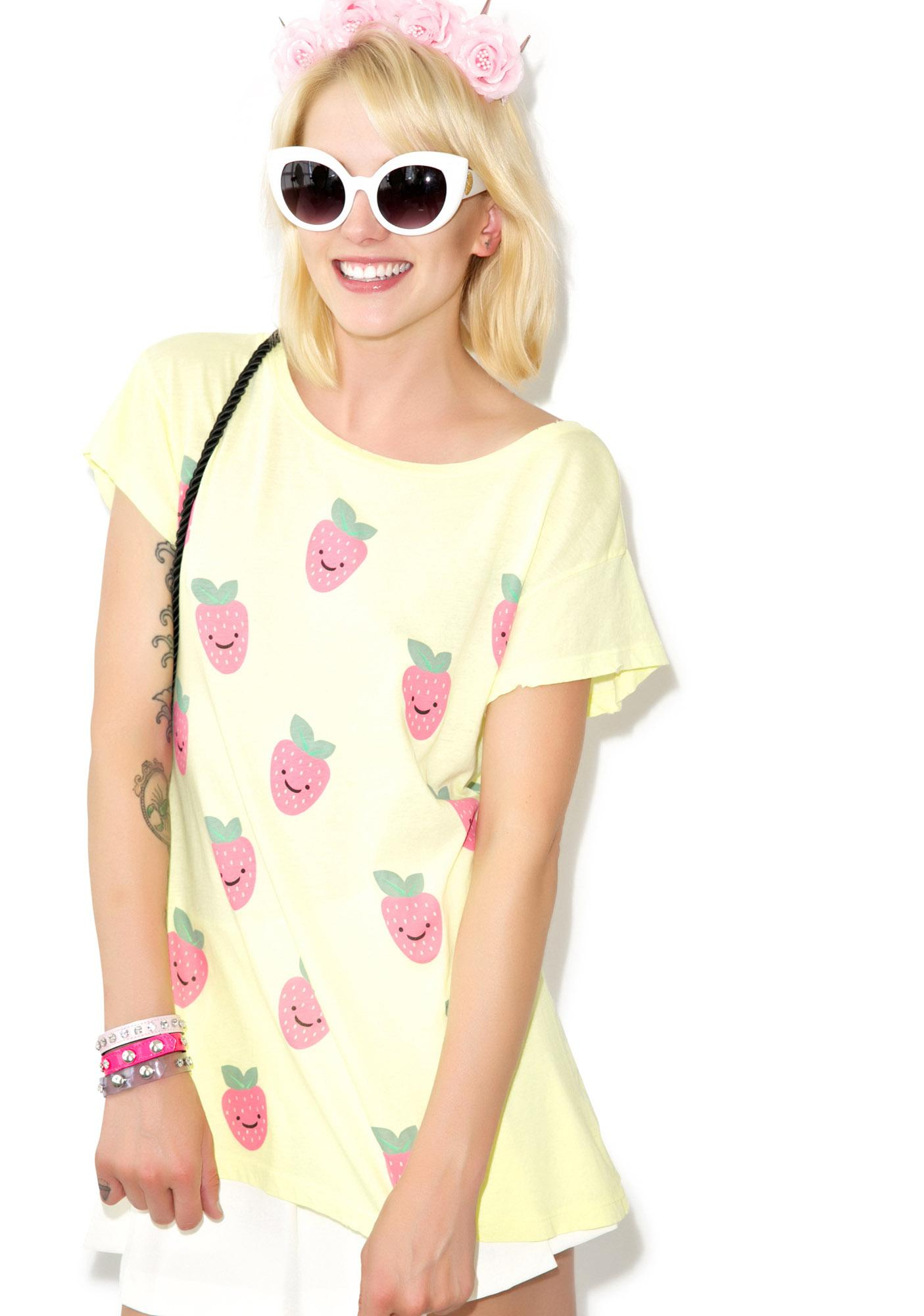 Wildfox Couture Happy Berries Hippie Crew
