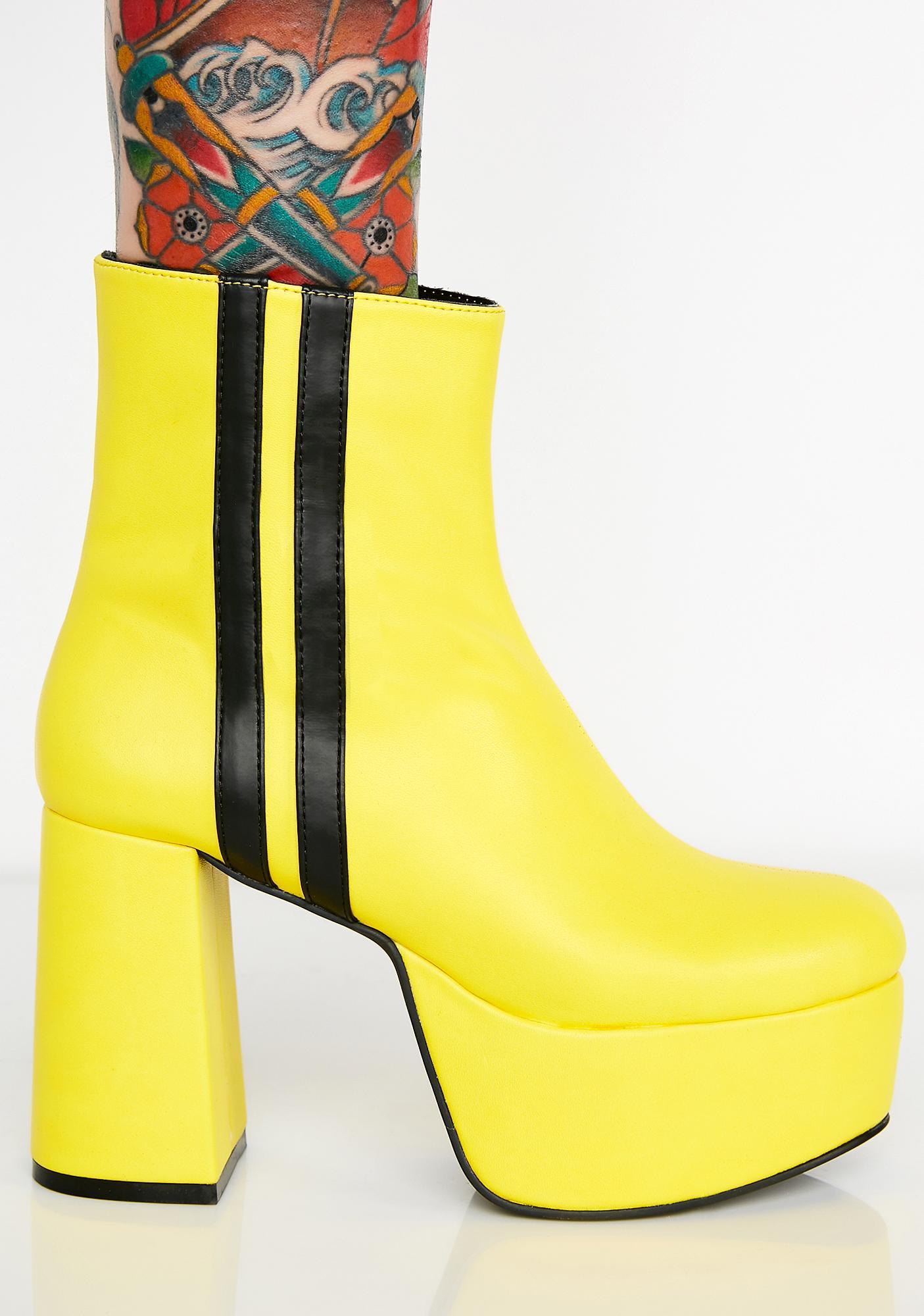 Current Mood Beatrixxx Baddie Platform Boots
