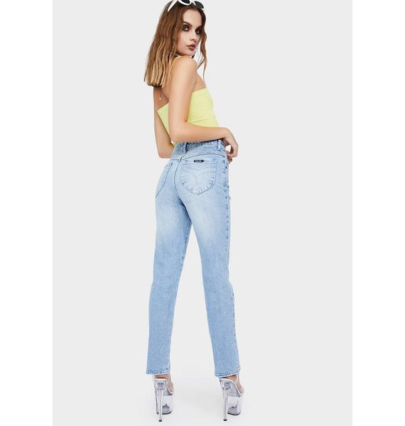 Rollas Faded Vintage Original Straight Leg Jeans