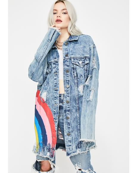 Love Is The Answer Denim Jacket