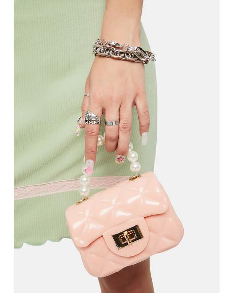 Pink Perla Jelly Mini Purse