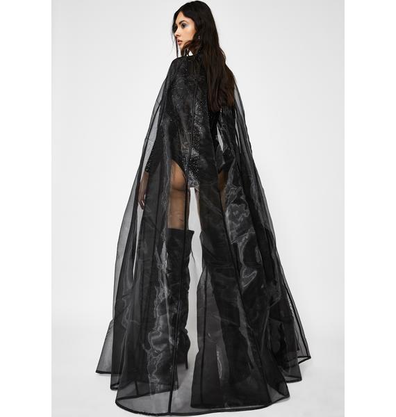 Kiki Riki Dark Shadows Sheer Cloak