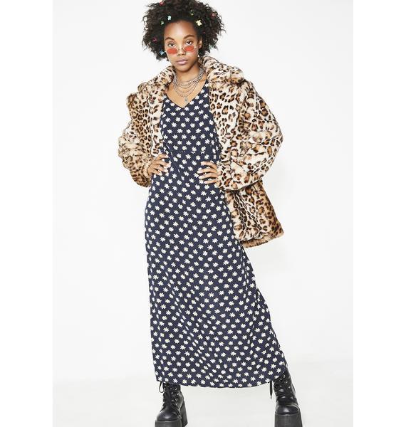 Vintage 90s Daisy Maxi Dress