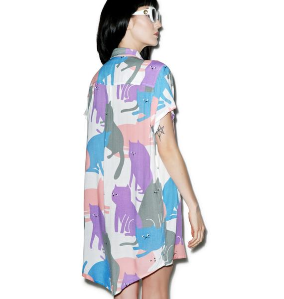 Lazy Oaf Cat Cluster Shirt