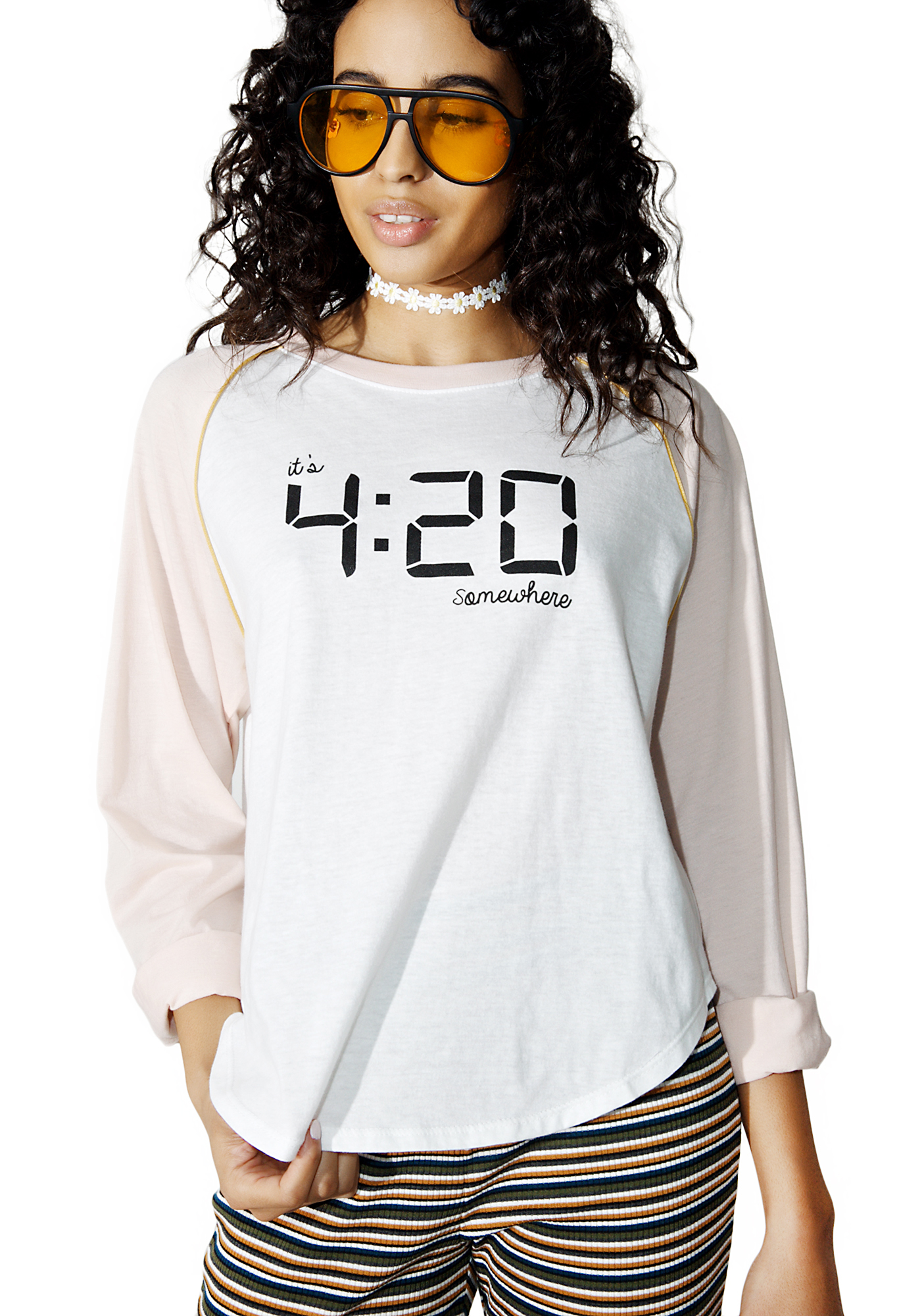 Camp Collection 420 Somewhere Baseball Tee