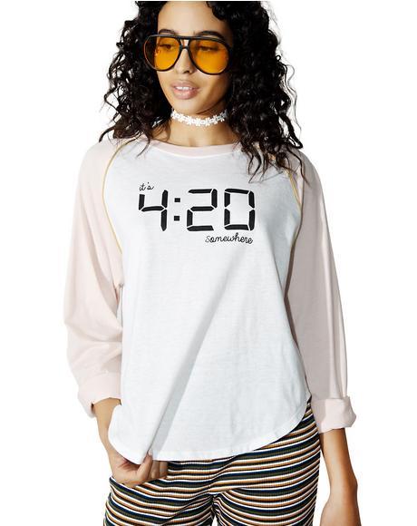 420 Somewhere Baseball Tee