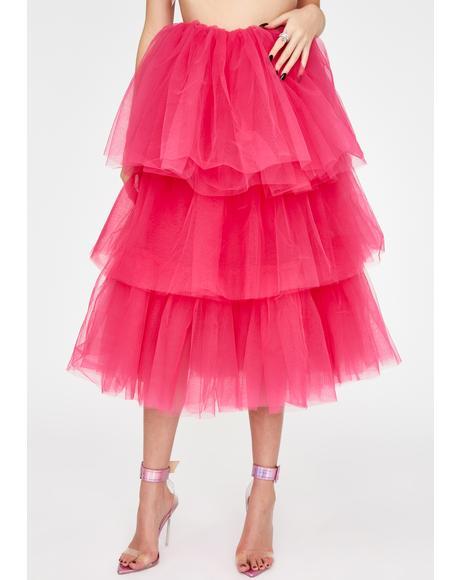 Fad Status Tulle Skirt
