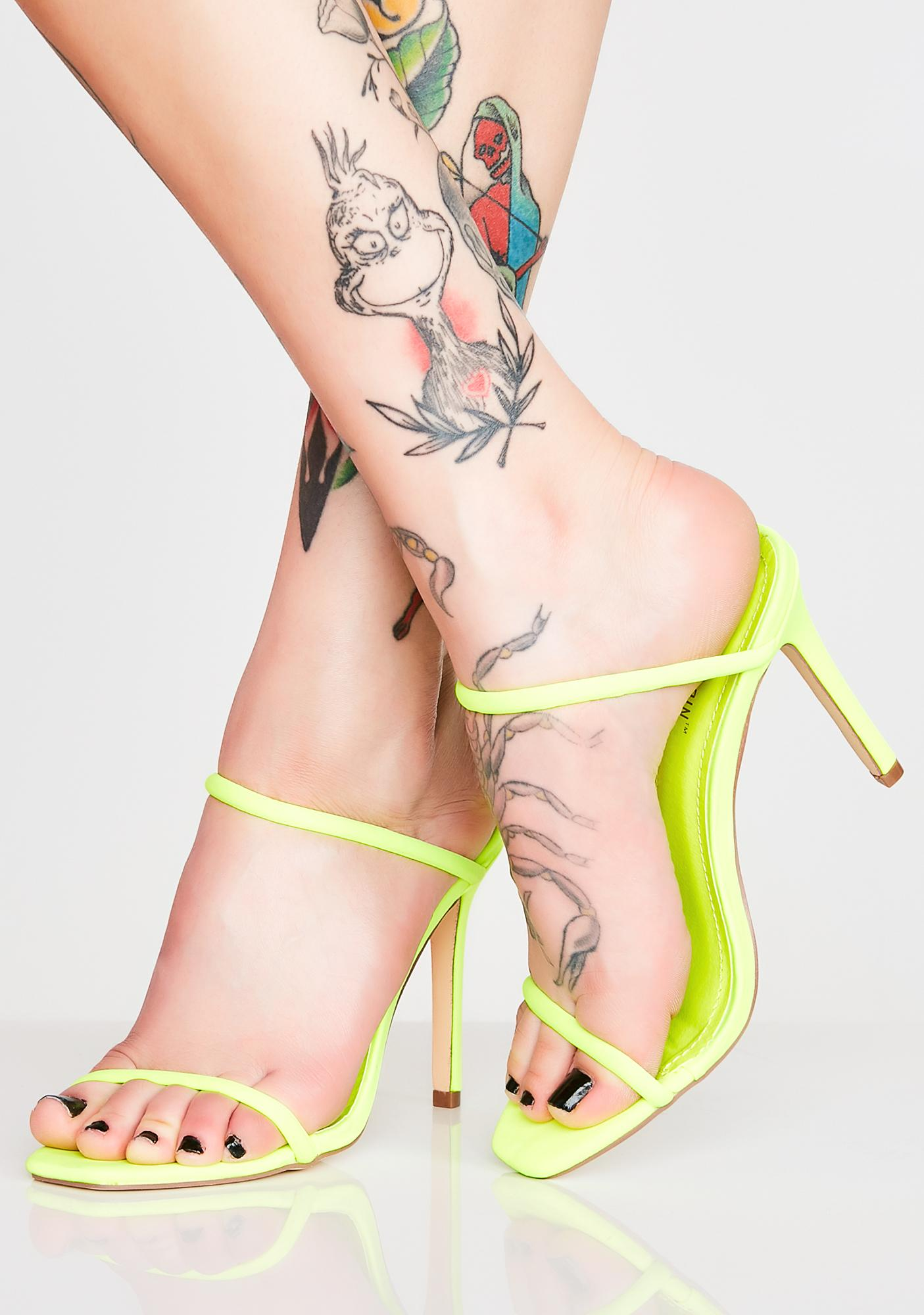 Slide In Strappy Heels