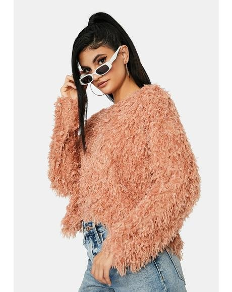 Brandy Beyond The Valley Fuzzy Sweater