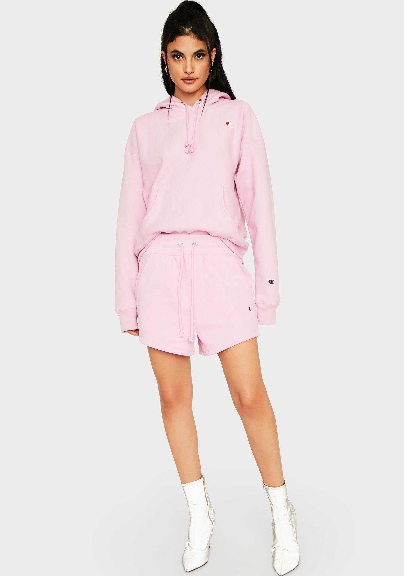 Champion Pink Reverse Weave Pullover Hoodie