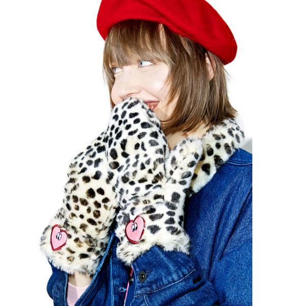 Lazy Oaf Kitty Heart Mittens