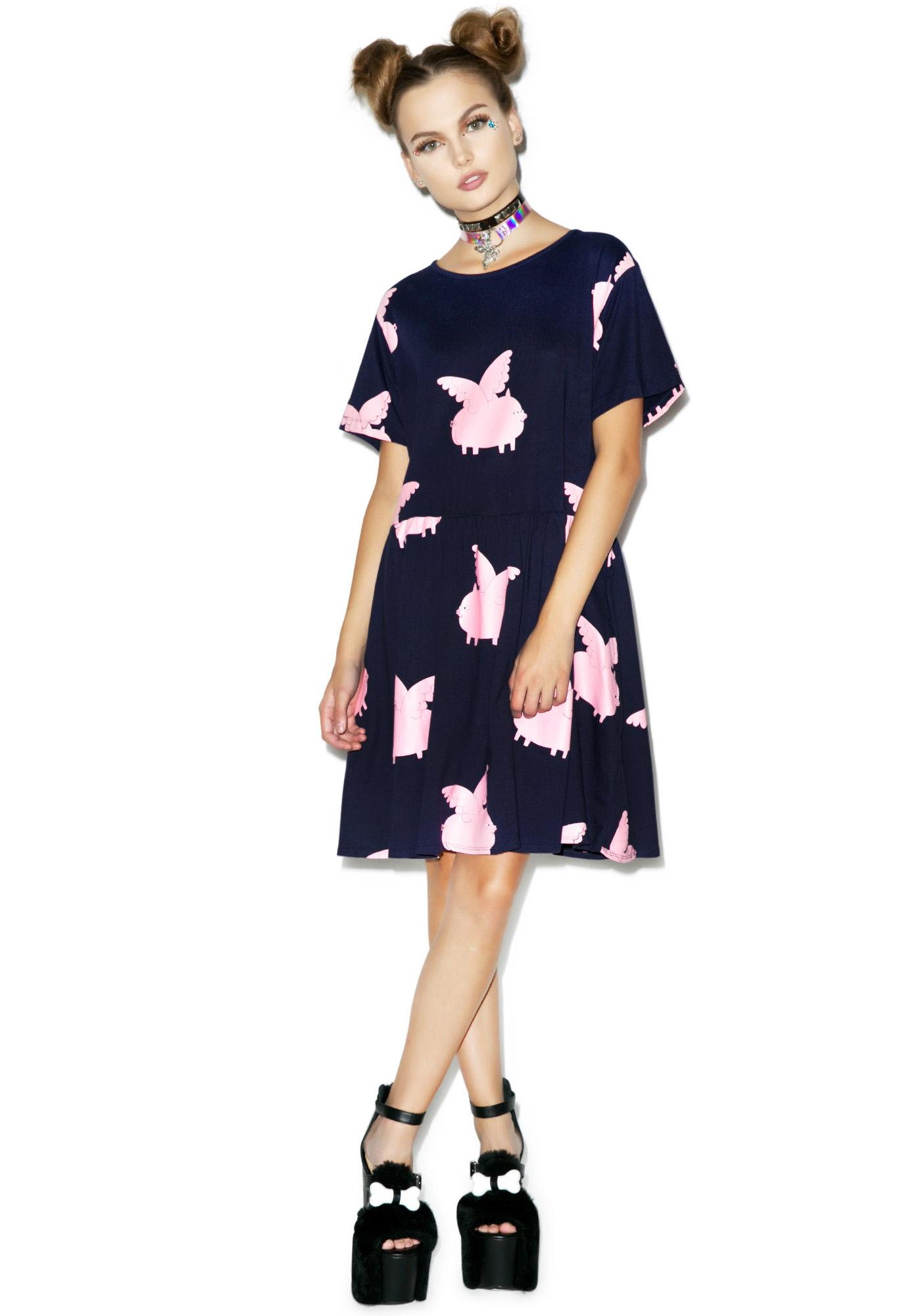 Lazy Oaf Pigs Fly Dress