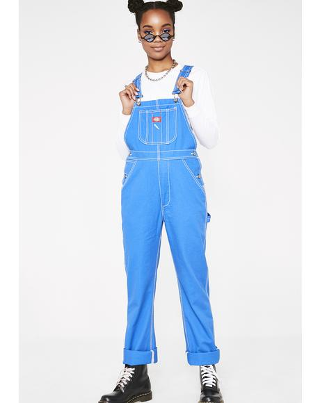 Indigo Relaxed Twill Overalls