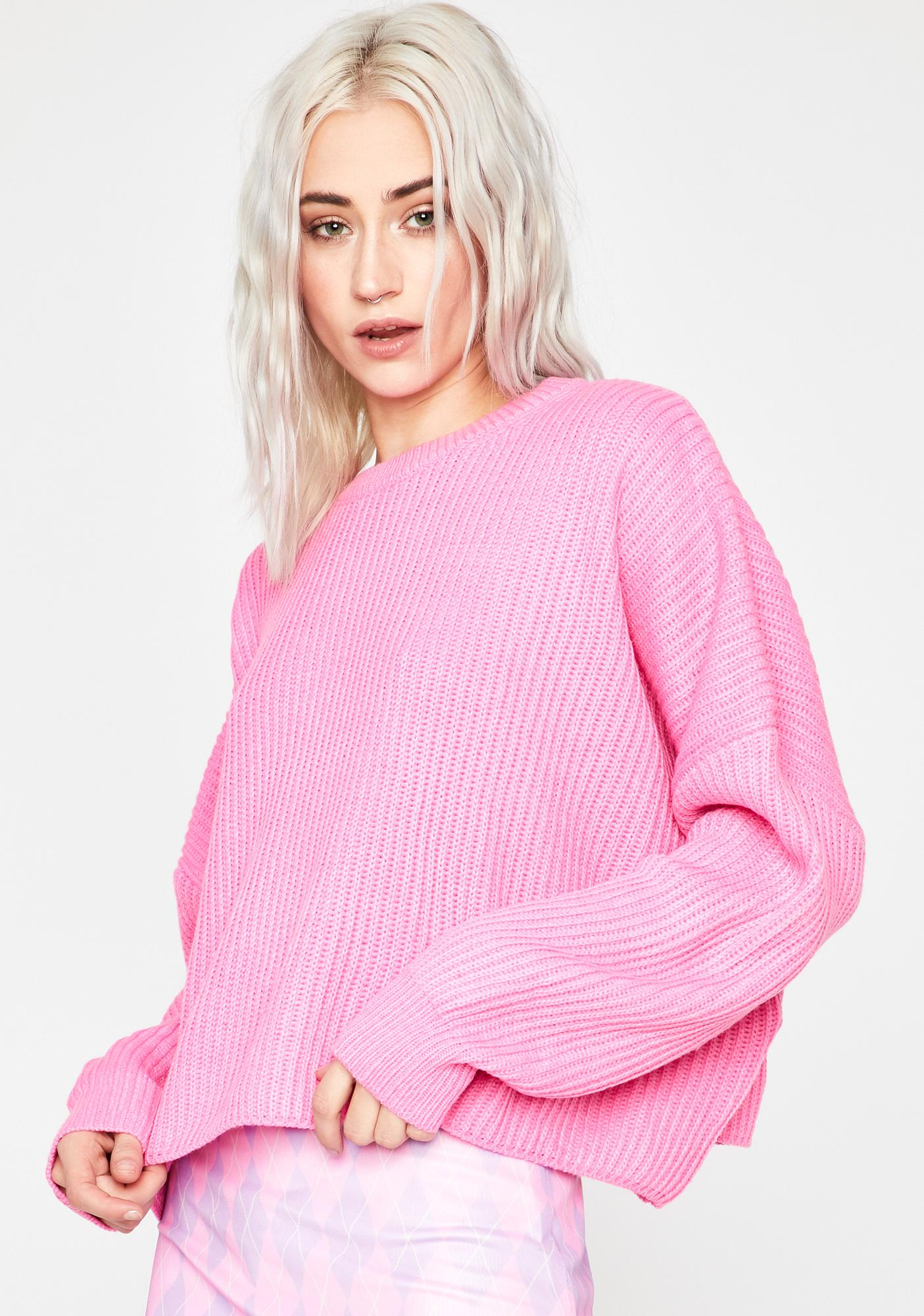 Baby Realer Than Real Crop Sweater