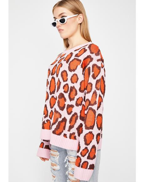 Pounce Possy Leopard Sweater