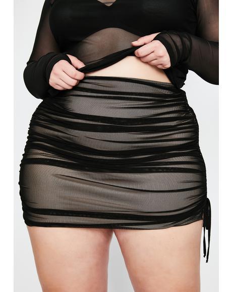 True Got Ur Number Ruched Skirt
