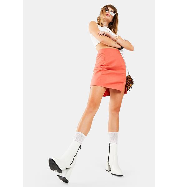 Glamorous Orange Rust Mini Skirt
