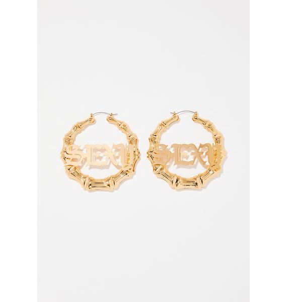 Sexxxy Mamma Hoop Earrings