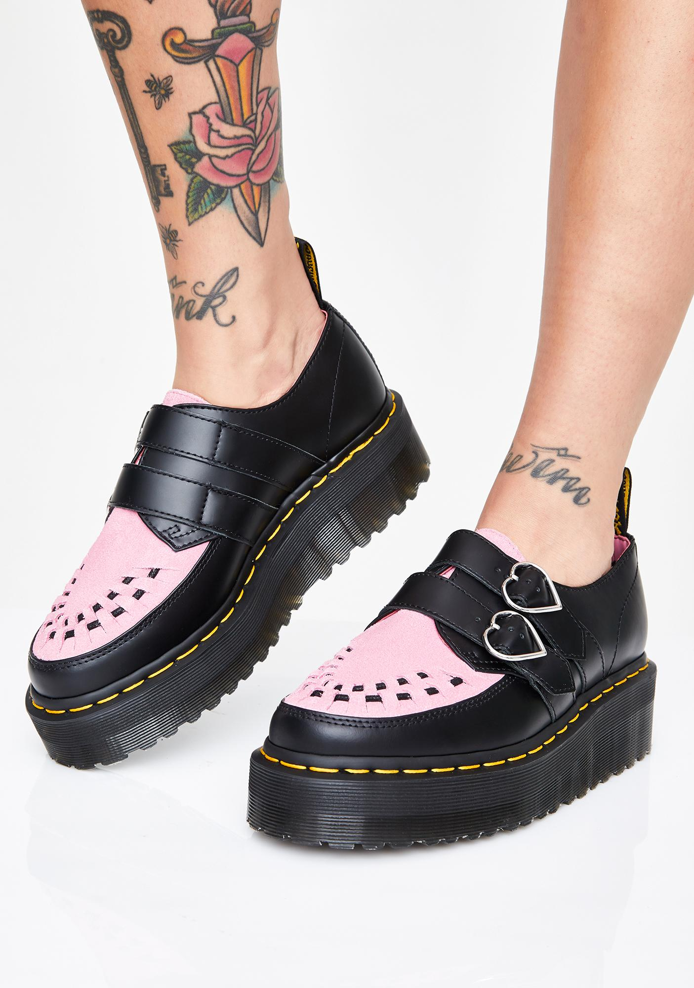 46fa97cafd5 X Miss Lazy Oaf Low Buckle Creepers