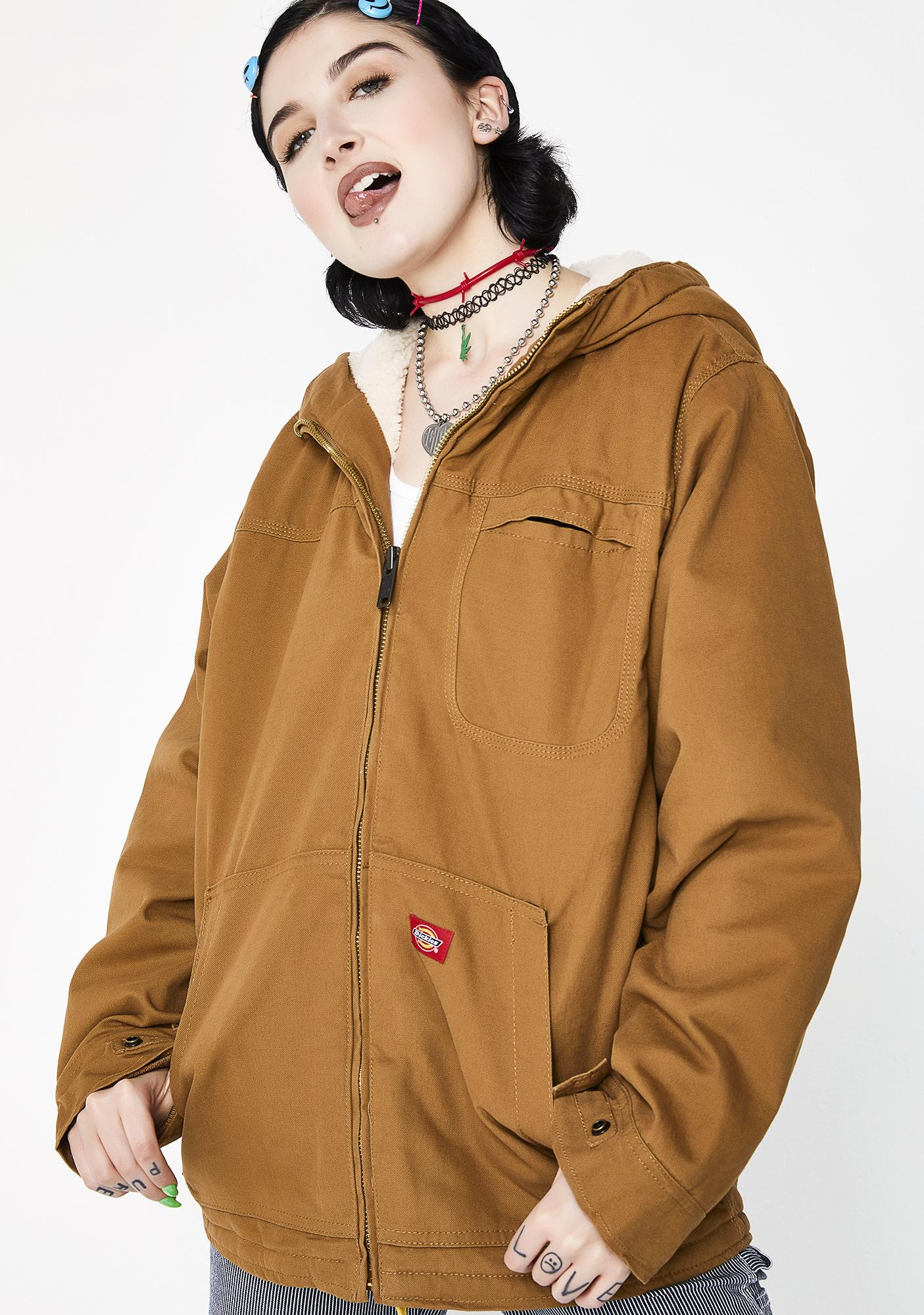 Duck Sherpa Lined Hooded Jacket by Dickies