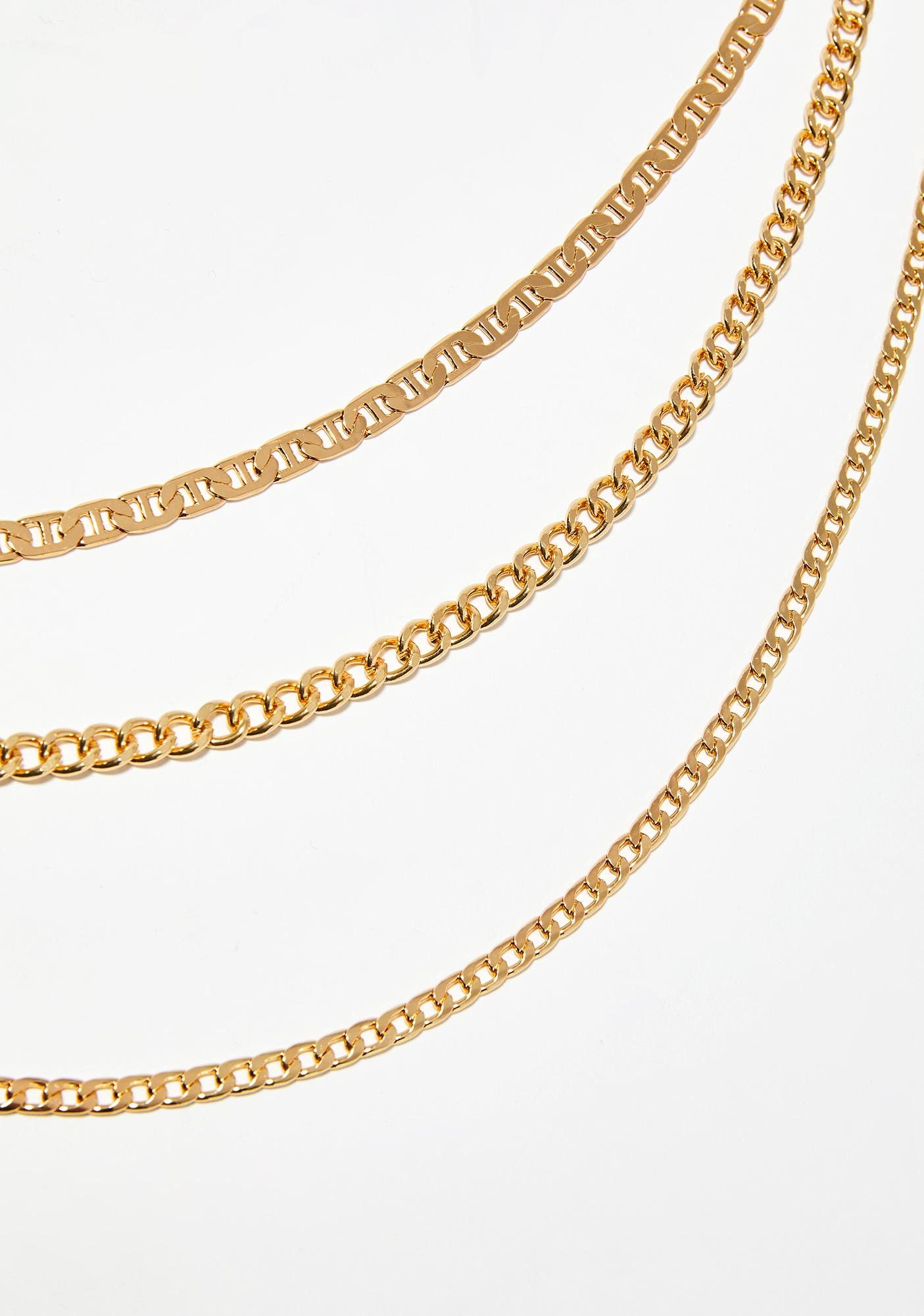Golden Bad Gal Layered Necklace