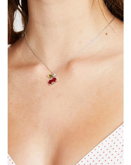 Tart Tease Cherry Necklace