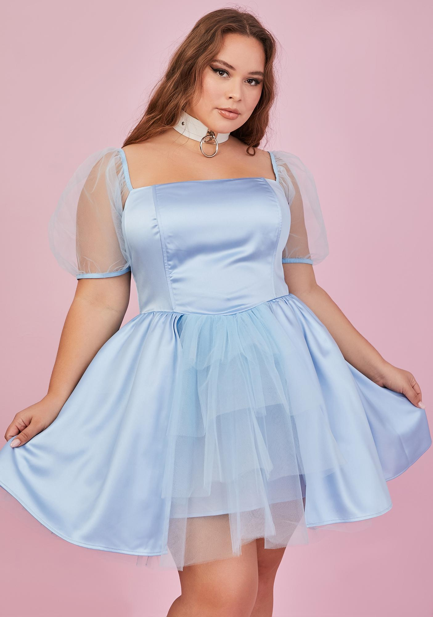 Sugar Thrillz I've Got You Babe Satin Mini Dress