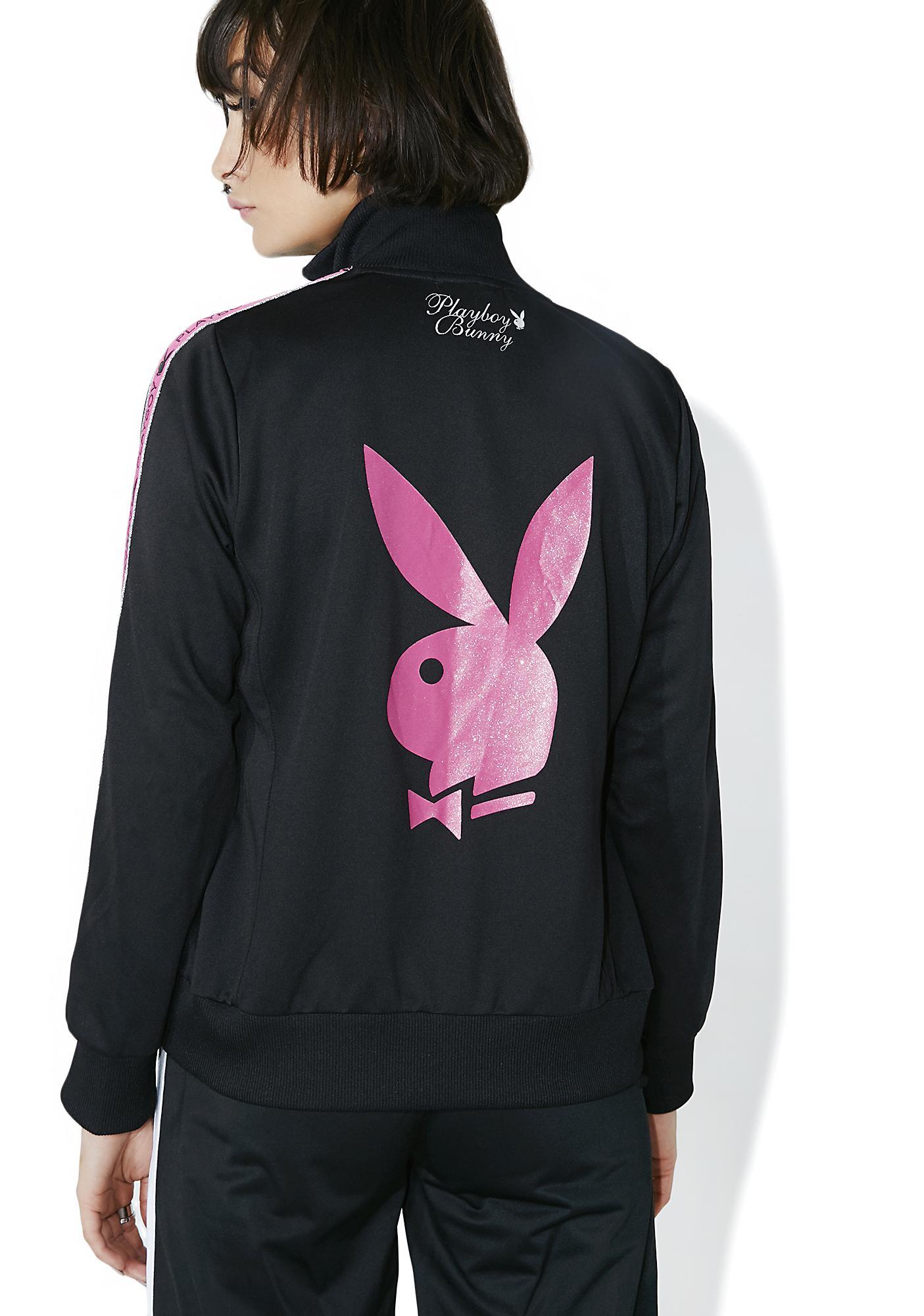Vintage Hott Pink Playboy Track Jacket