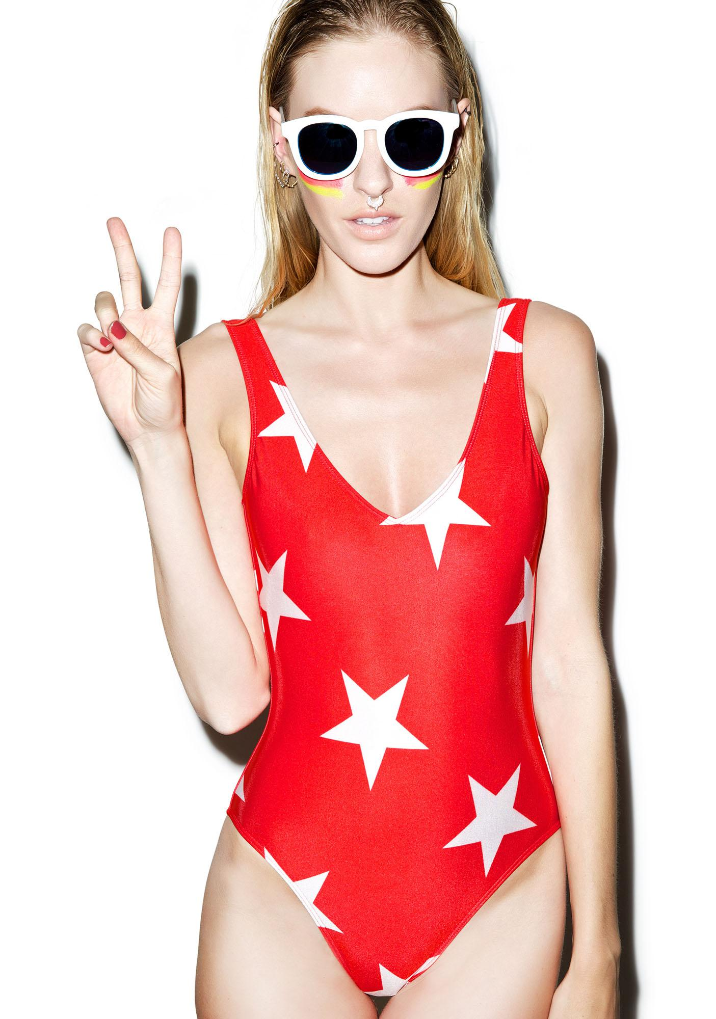 Wildfox Couture Starshine 80's One-Piece