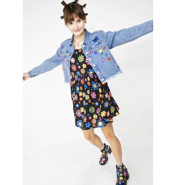 dELiA*s by Dolls Kill Flower Power Babydoll Dress