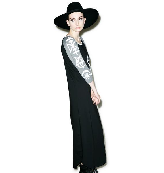 Disturbia Necronomicon Maxi Dress