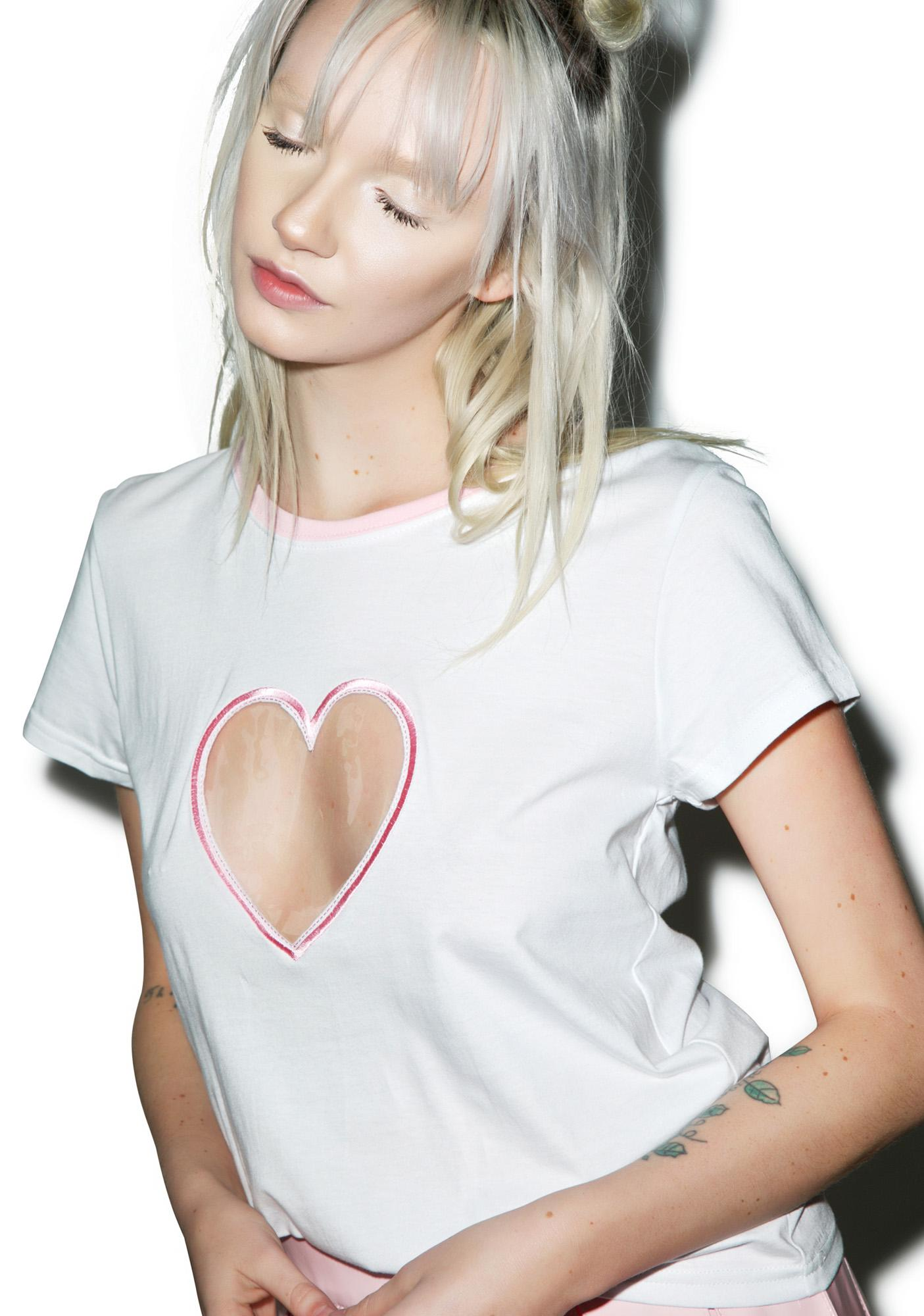 Local Heroes Transparent Heart Tee